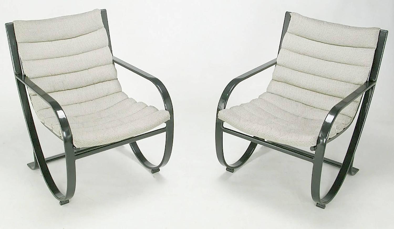 blue metal chairs twin sleeper chair memory foam mattress set of six jay spectre for brown jordan midnight