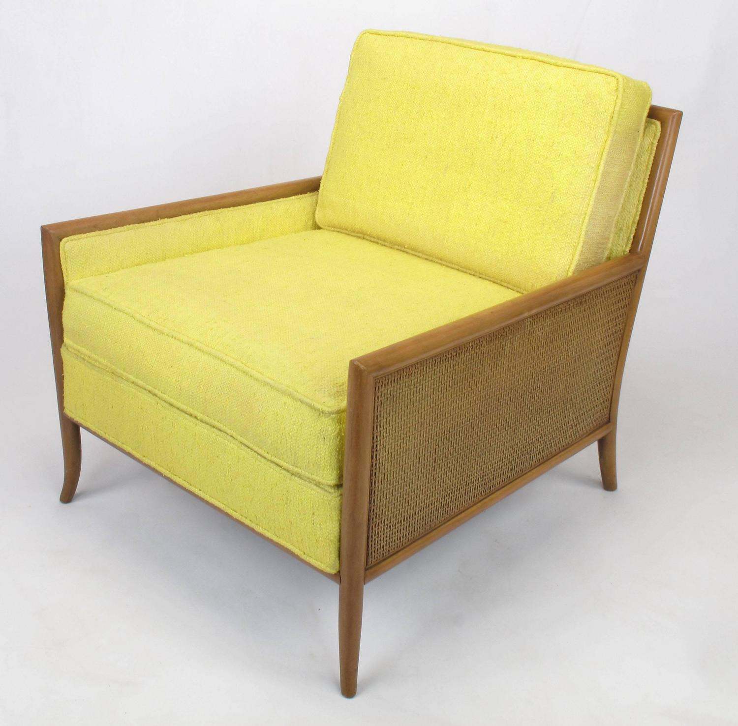 yellow club chair garden table and 2 chairs set pair of walnut haitian cotton lounge