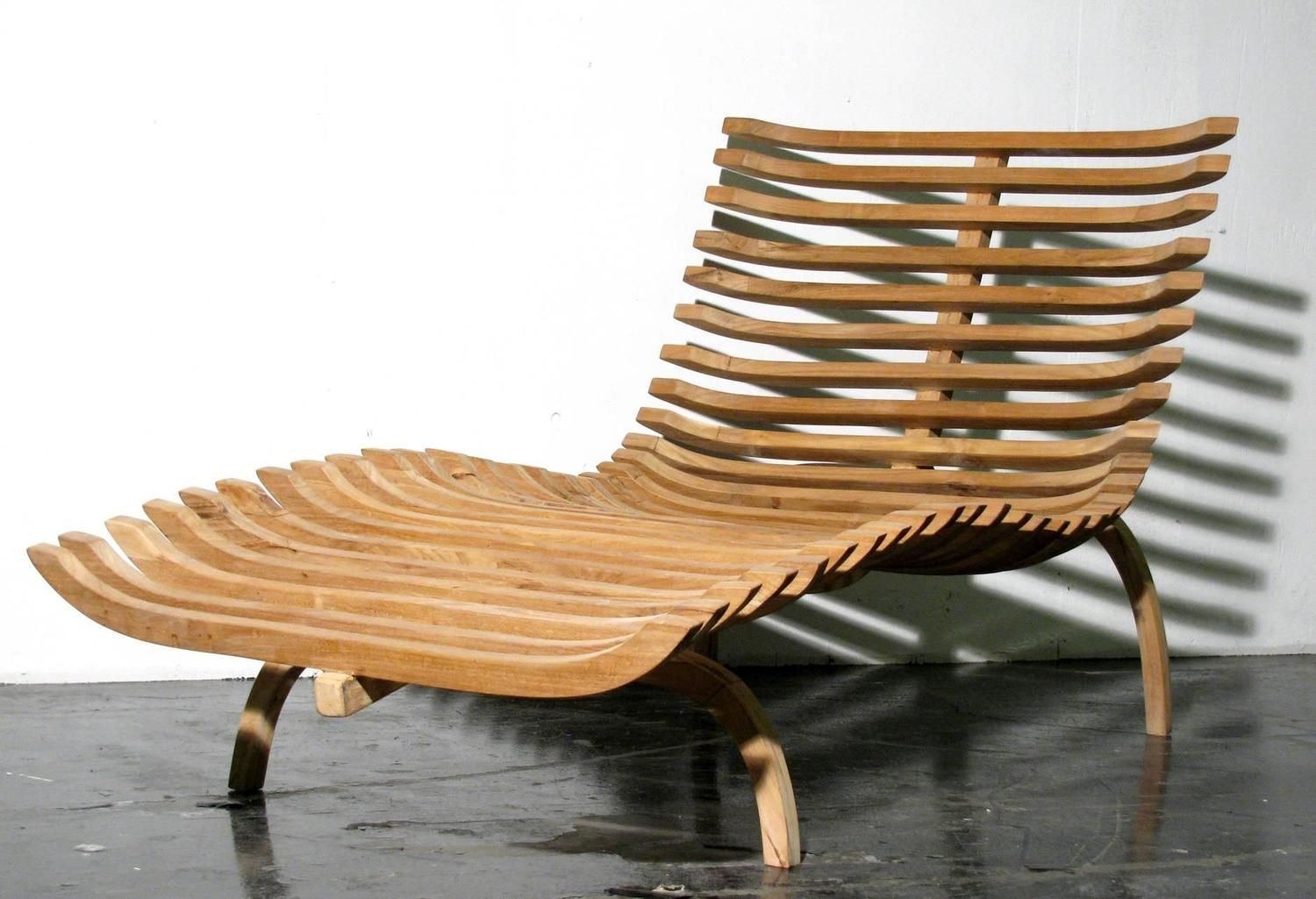 teak chaise lounge chairs sale hanging lawn chair sculptural for at 1stdibs