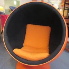 Orange Wicker Chair Cushions Swing Revit Family Eero Aarnio Ball By Asko Lahti At 1stdibs