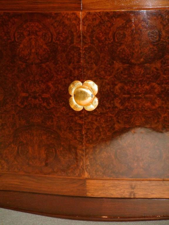 Sue Et Mare Cabinet In Rosewood With Gilt Bronze For Sale