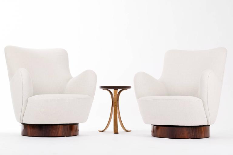 grey velvet slipper chair arm protectors uk vladimir kagan pair of barrel back lounge chairs at 1stdibs