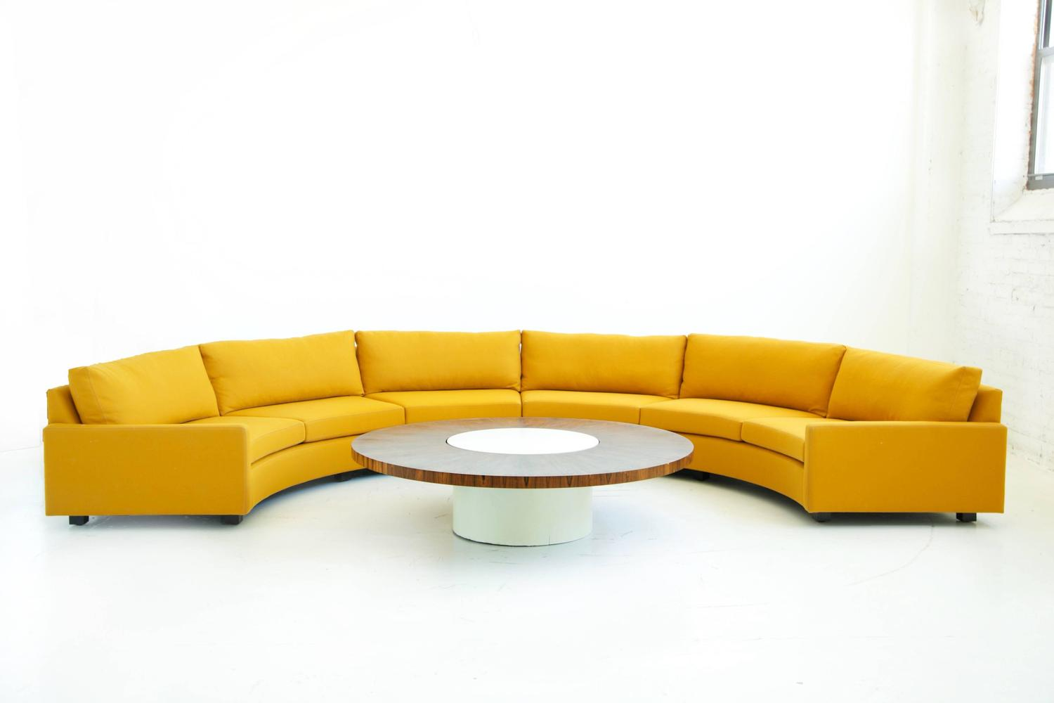 new luxury living room with half circle