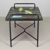 French Mid-Century Tile-Top Table For Sale at 1stdibs