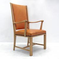 Swedish Highback Leather Chair at 1stdibs