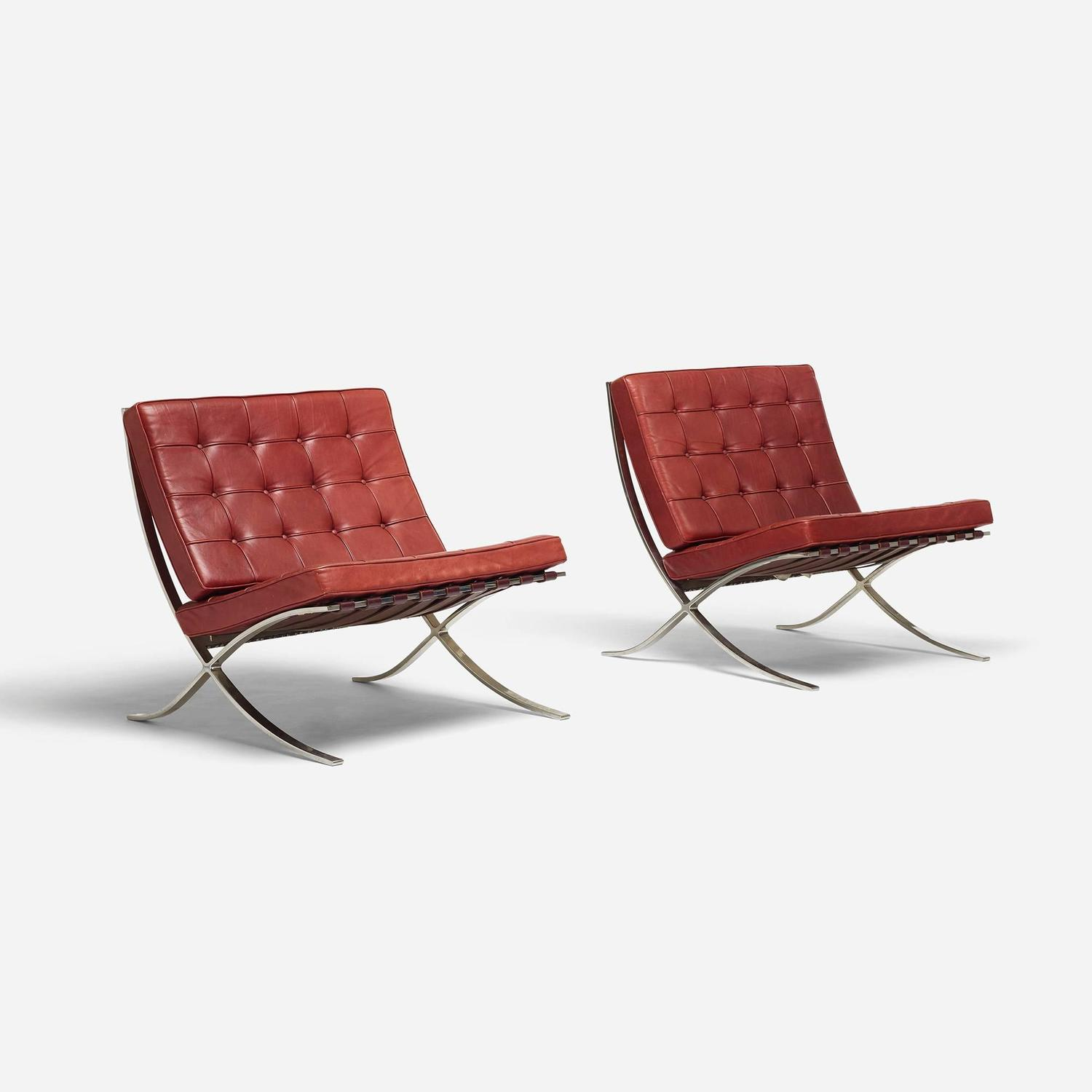 barcelona chairs for sale ikea glider rocker chair pair of by ludwig mies van der rohe