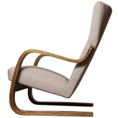High Backed Chair Champagne Gold Covers 1930s Alvar Aalto Cantilevered Finland For Sale