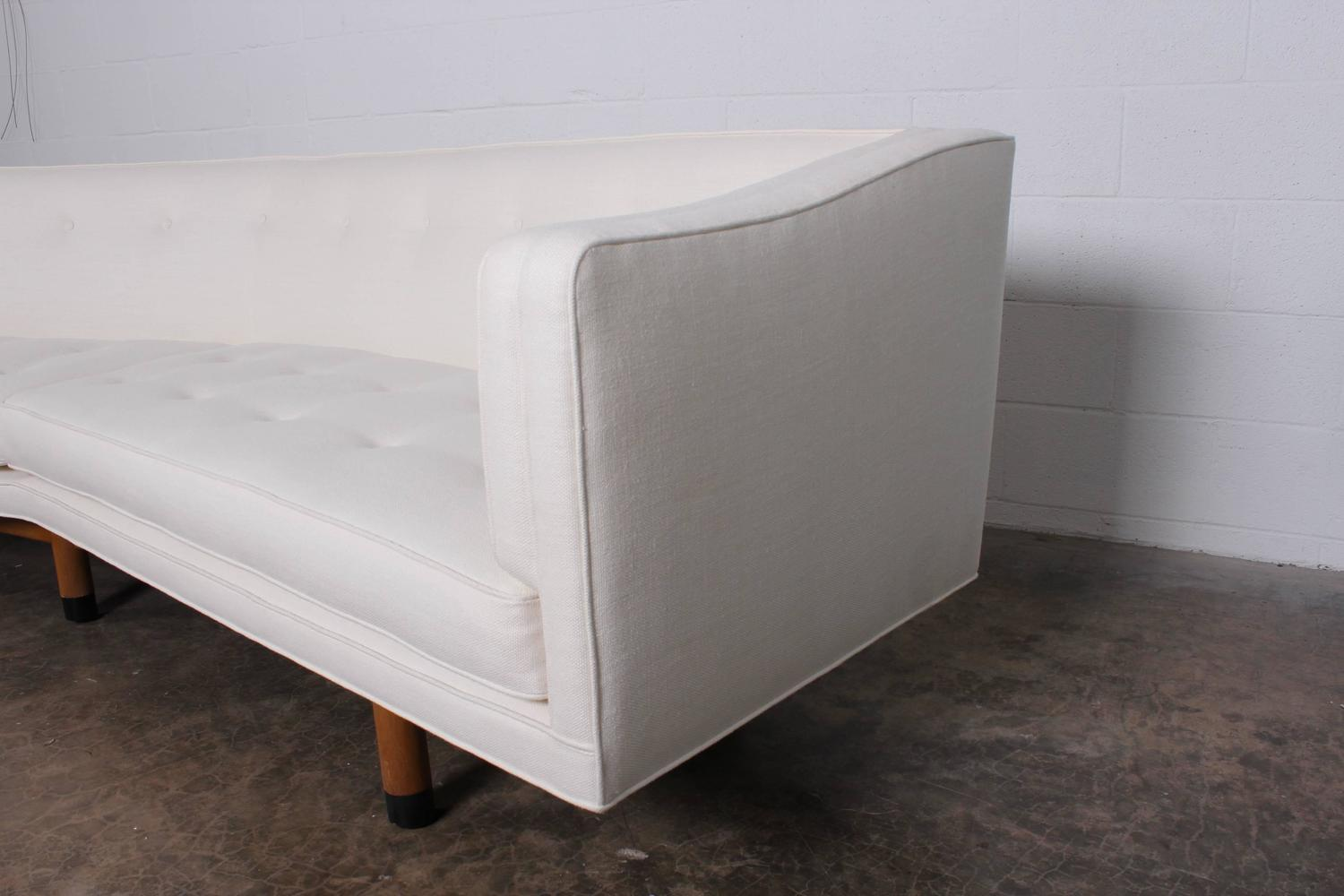 angled sofa legs and loveseat clearance by edward wormley for dunbar sale at 1stdibs
