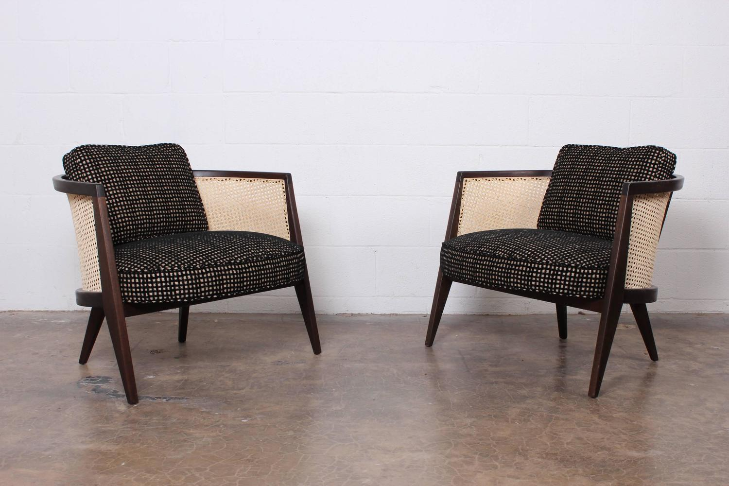 cane back chairs for sale academy sports beach pair of lounge by harvey probber