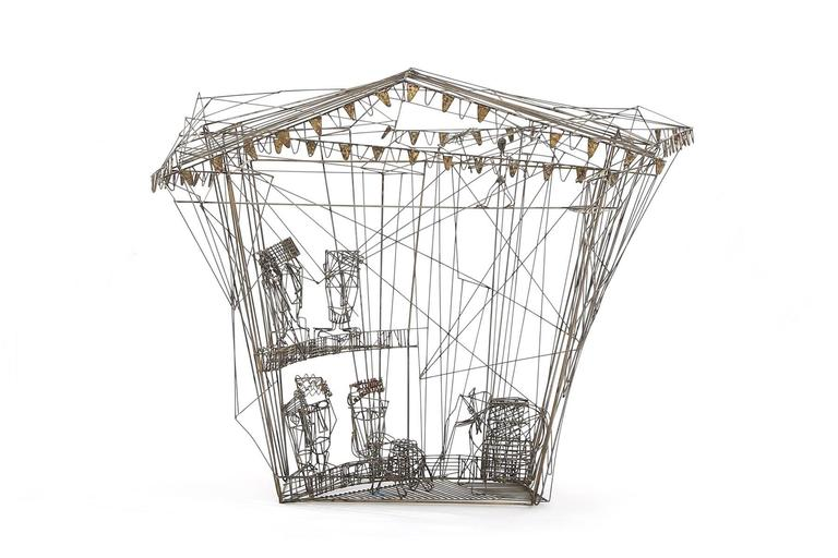 Three William De Lillo Wire Circus Sculptures at 1stdibs