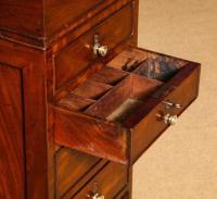 Regency Mahogany Hinger Davenport Desk with Hidden