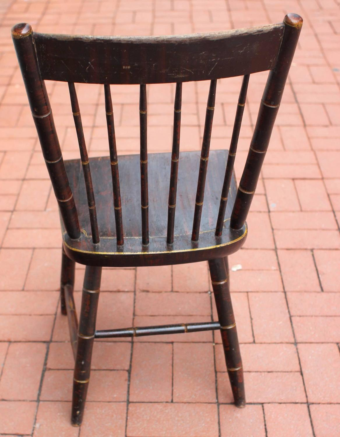 diy painted windsor chairs wooden high for babies paint decorated side chair new england circa