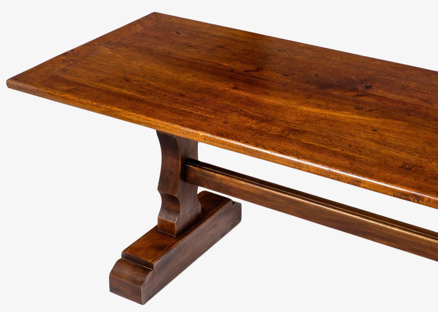 French 19th Century Solid Oak Monastery Table For Sale At