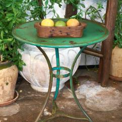 Green French Bistro Chairs Oxo High Chair Tray Cover Hammered Iron Table For Sale At 1stdibs