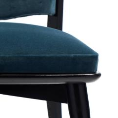 Set Of Six Dining Chairs For Sale Nichols And Stone Chair Value Mid-century Modern Period Teal Velvet At 1stdibs