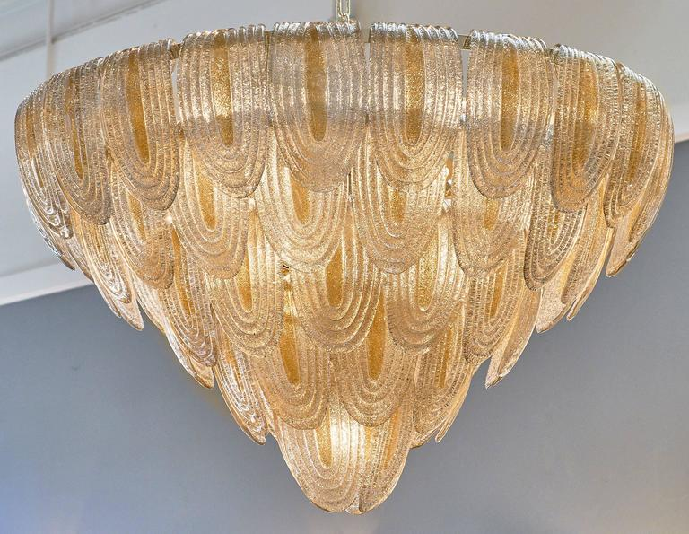 Murano Glass Art Deco Style Chandelier For Sale At 1stdibs