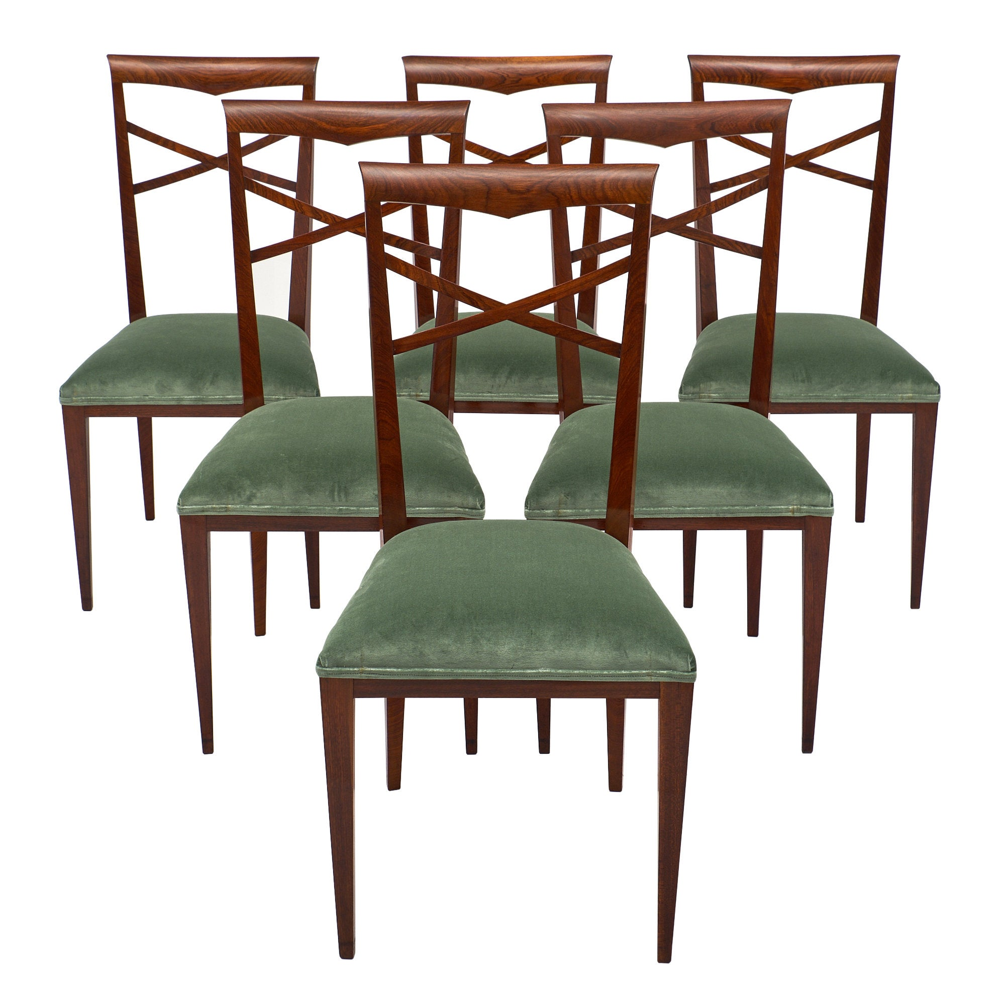 Italian Dining Chairs Paolo Buffa Style Italian Dining Chairs