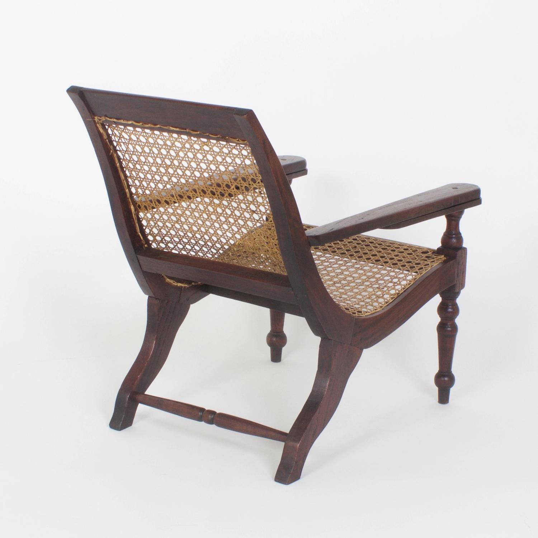 british colonial chair cup holder for zero gravity rare antique child 39s campaign plantation