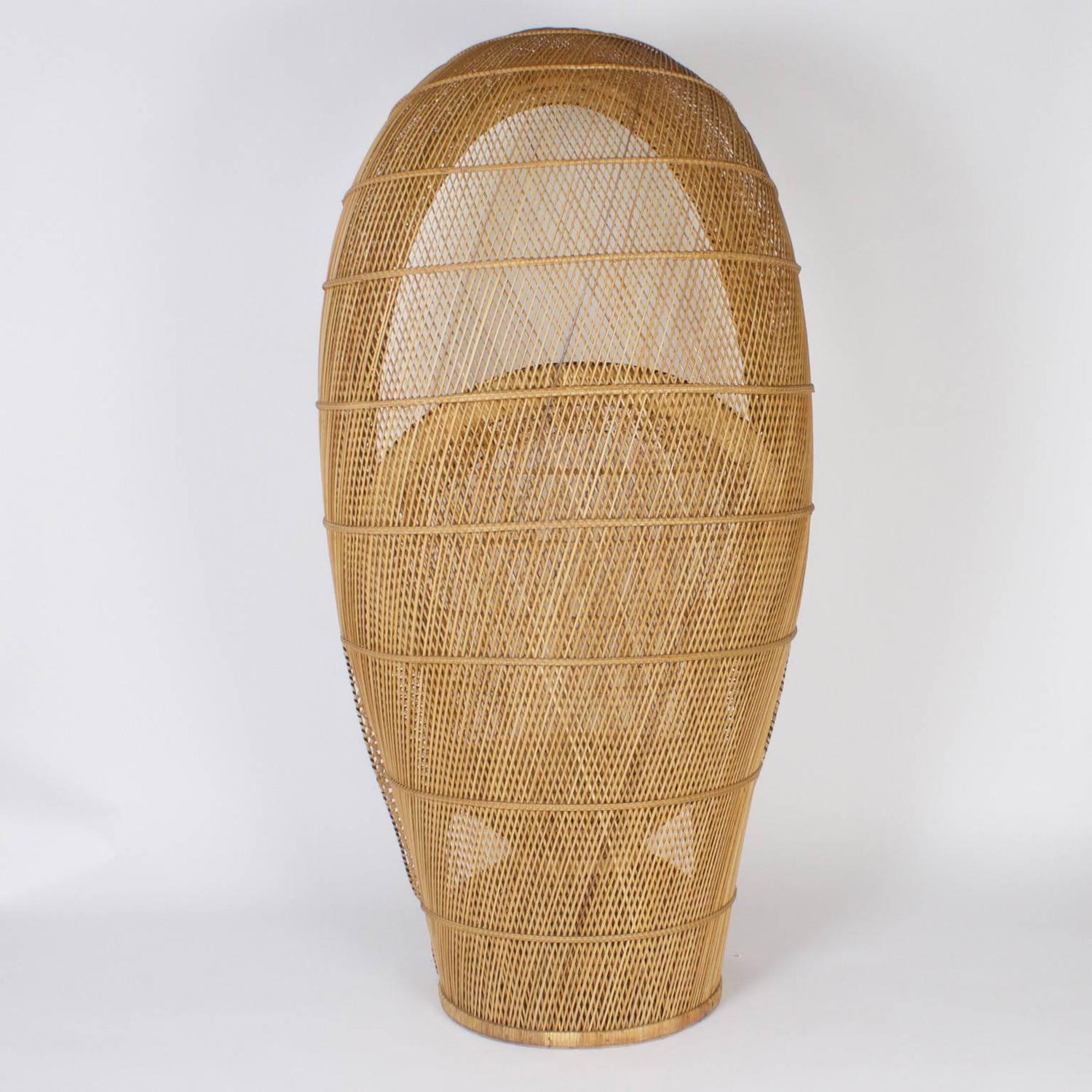 rattan peacock chair anti slip mat vintage for sale at 1stdibs