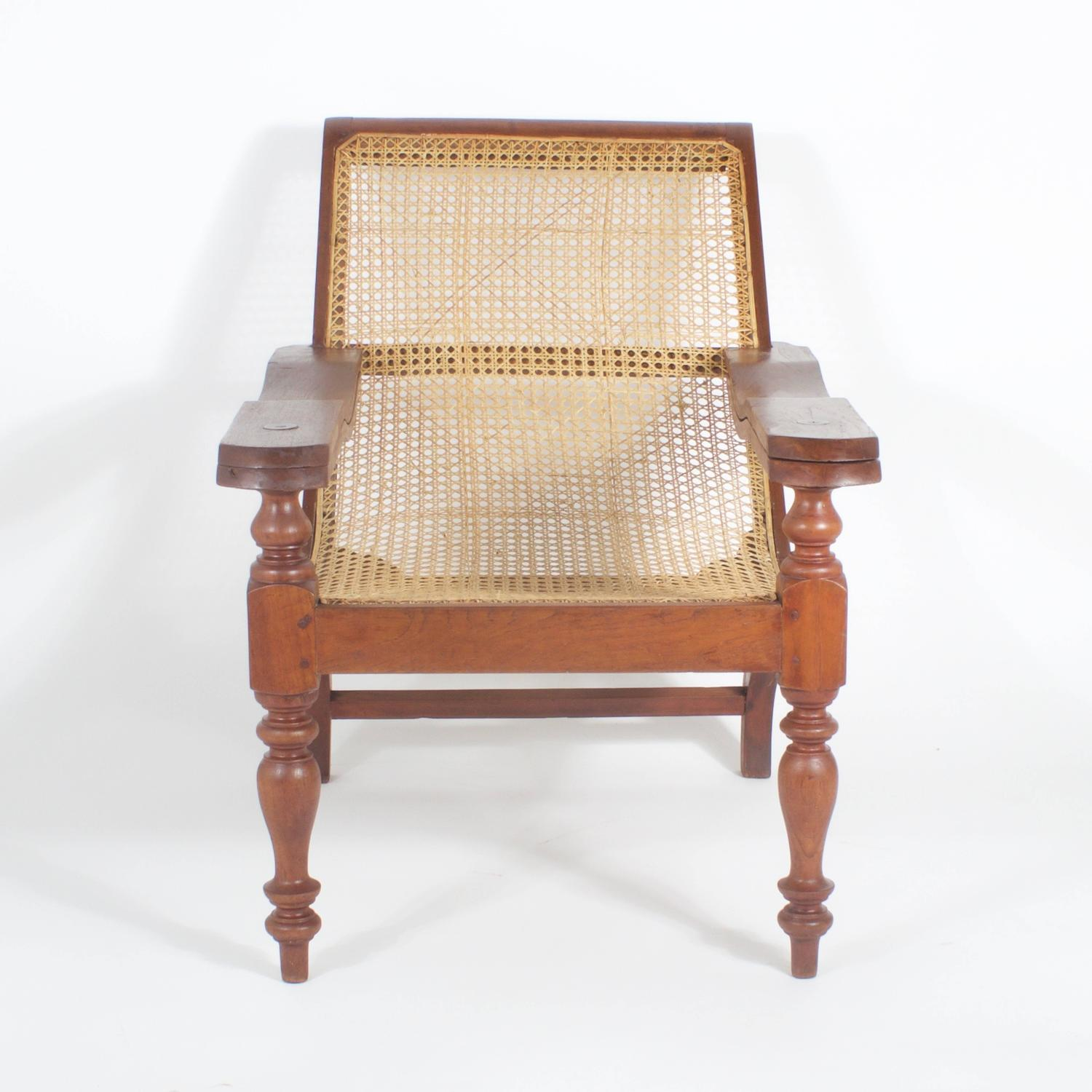 plantation style chairs lounge chair folding cane for sale at 1stdibs