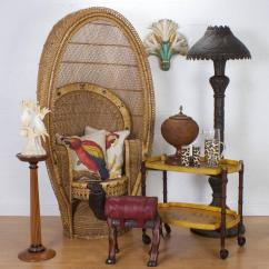 Vintage Peacock Chair Lightweight Aluminum Webbed Folding Lawn Chairs Rattan For Sale At 1stdibs