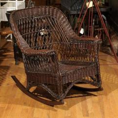 1920s Rocking Chair Folding Foam Bed Canada American Wicker Rocker Circa 1920 For Sale At 1stdibs