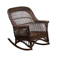 1920s Rocking Chair Papasan Cushion Diy American Wicker Rocker Circa 1920 For Sale At 1stdibs