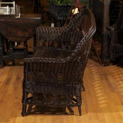 Heywood Wakefield Wicker Chairs Outdoor Bunnings Signed Sofa Circa 1910 For Sale