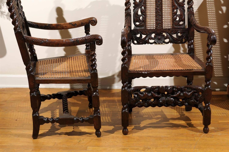 barley twist chair pikachu bean bag pair of english 17th century arm chairs for