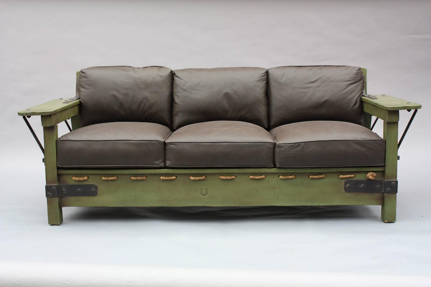 rope bottom chair soft chairs spread the hips classic monterey green sofa frame at 1stdibs