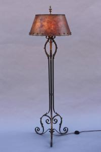 Spanish Revival Floor Lamp with Fantastic Mica Shade ...