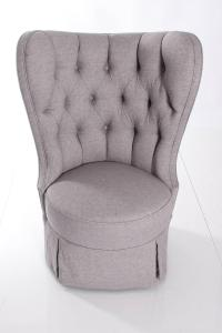 Pair of Large Barrel Back Wing Chairs For Sale at 1stdibs