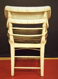 Pair of Mid Century Curved Back Bamboo Arm Chairs ...