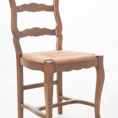 Ladder Back Dining Room Chairs Walmart Table Set Of Six French 1940s Oak For