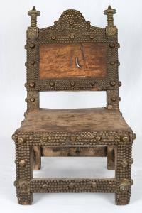 Vintage African Ashanti Kings Chair/ Throne For Sale at