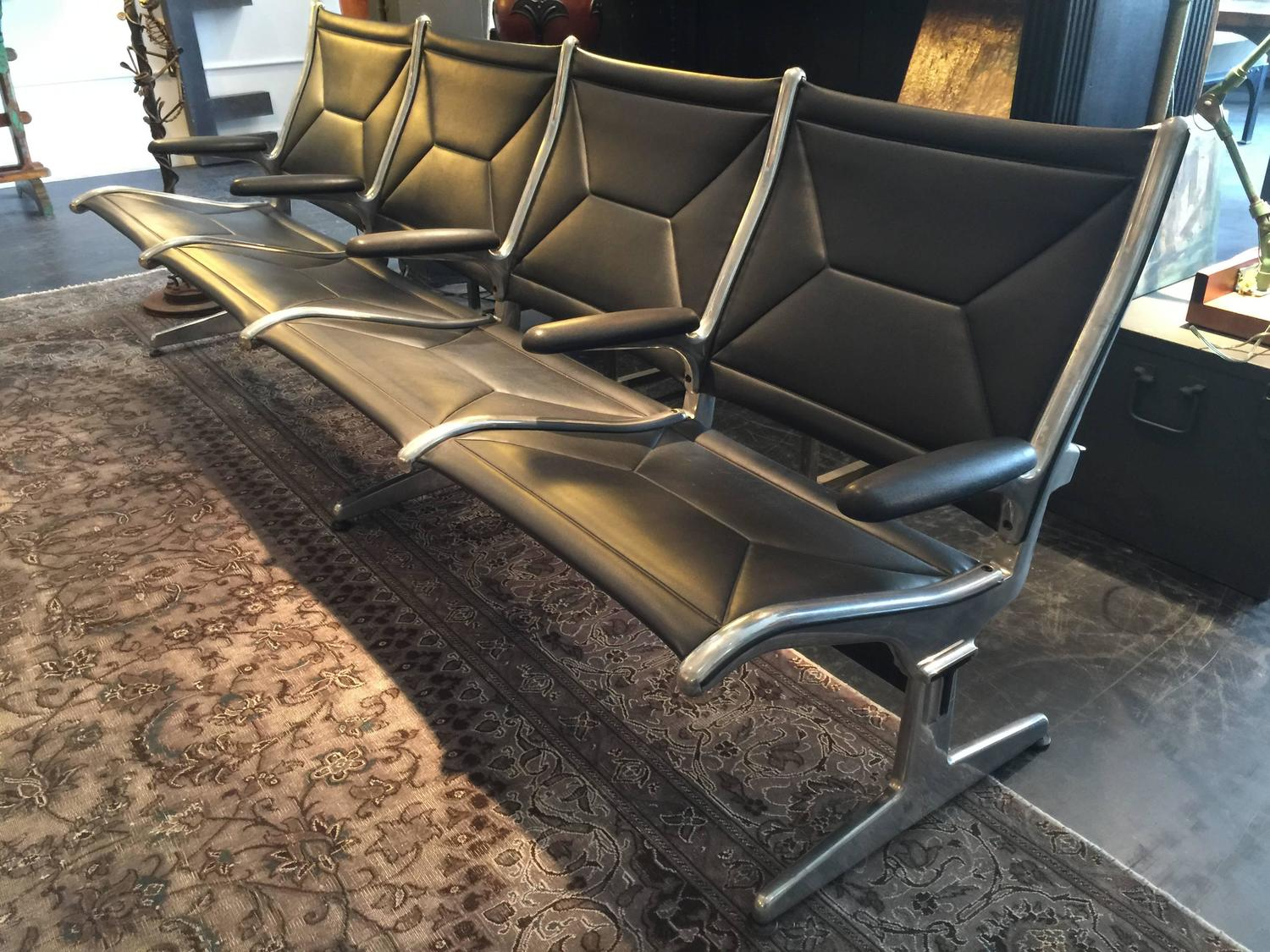 herman miller chairs seattle steel chair size vintage airport bench at 1stdibs