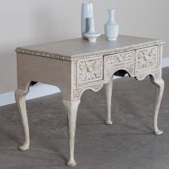 Painted Queen Anne Sofa Table Cover Set Online Antique English Style Carved And Oak