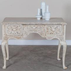 Painted Queen Anne Sofa Table Modern Back Tables Antique English Style Carved And Oak