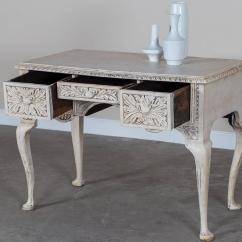 Painted Queen Anne Sofa Table Purple Sofas Uk Antique English Style Carved And Oak