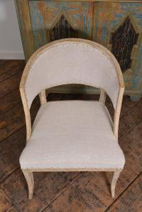 Swedish Barrel Back Chair For Sale at 1stdibs