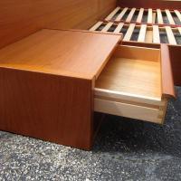 Danish King-Size Vintage Midcentury Platform Bed at 1stdibs