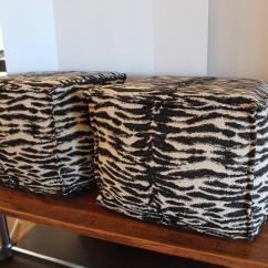Zebra Print Chairs For Sale Office Chair Standing Desk Ottomans At 1stdibs