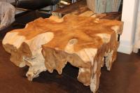 Unusual Organic Expression Teak Coffee Table at 1stdibs