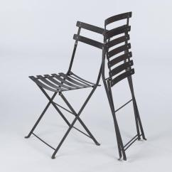 Outdoor French Bistro Chairs Fishing Chair Cuzo Set Of Four Folding Metal Side By