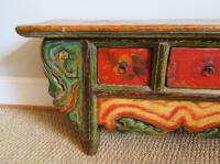 19th Century, Mongolian Hand-Painted Low Cabinet For Sale ...
