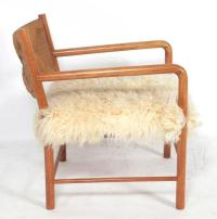 Italian Midcentury Lounge Chair in Woven Paper Cord and ...