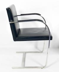 Pair of Brno Chrome Chairs by Mies Van Der Rohe for Knoll ...