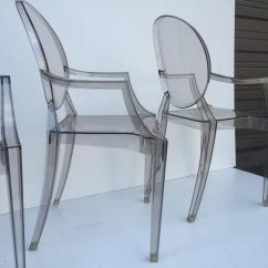 Ghost Chairs For Sale Tile Top Patio Table And Five Signed Lucite At 1stdibs