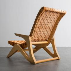 Webbed Chaise Lounge Chairs Best For Standing Desks In Plywood With Leather Seat By Jose