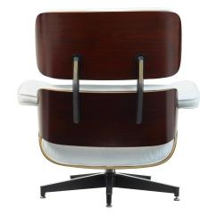 Eames Chair White Youth Dining Leather Lounge And Ottoman At 1stdibs